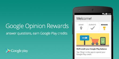 Google Opinion Rewards, gana dinero para Google Play