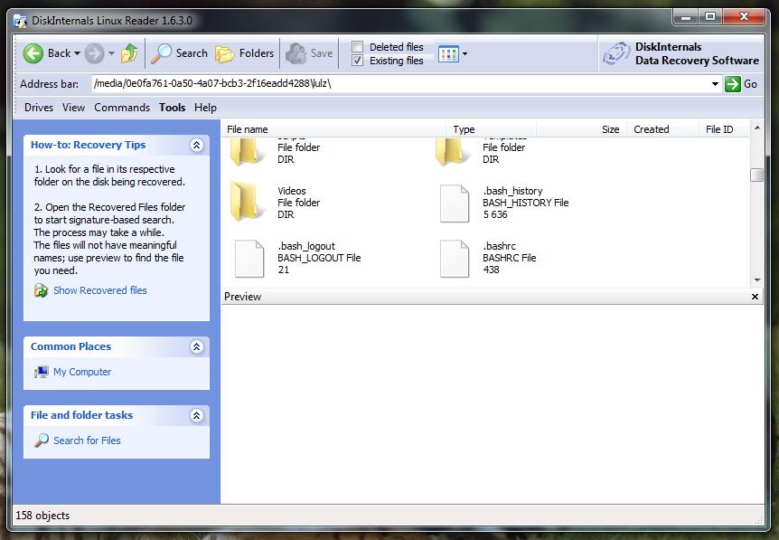 sistemas de archivos de Linux