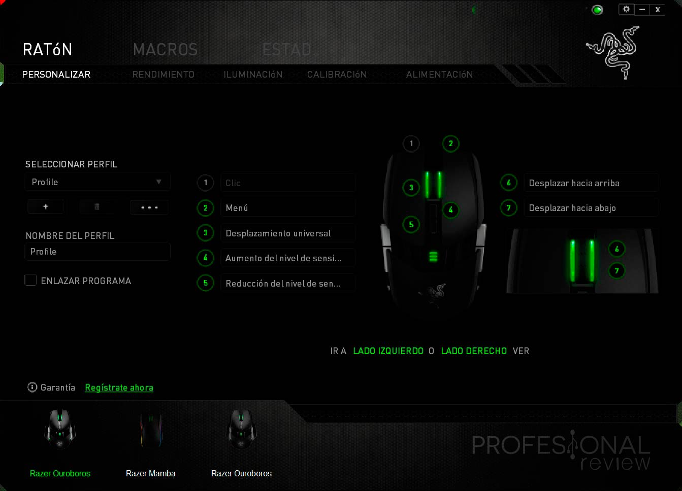 Razer Ouroboros Software