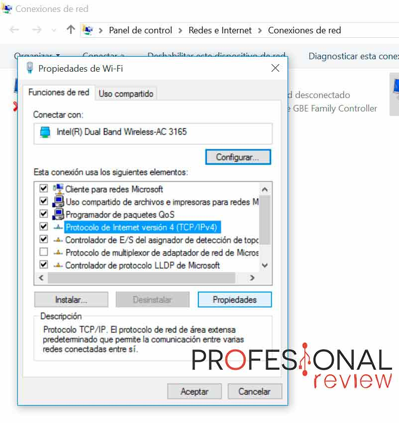 cambiar DNS en Windows 10