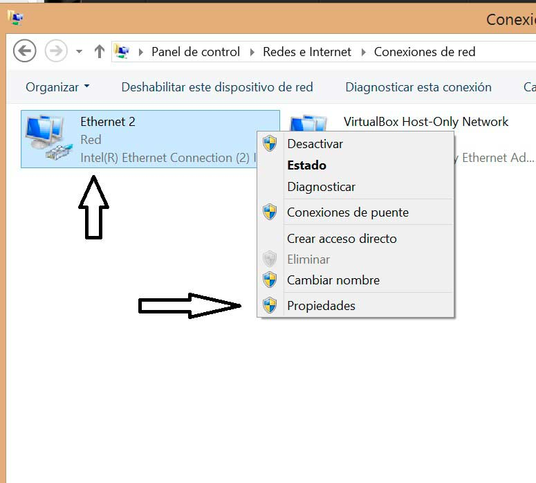 Cambiar DNS en Windows 8 conexiones de red