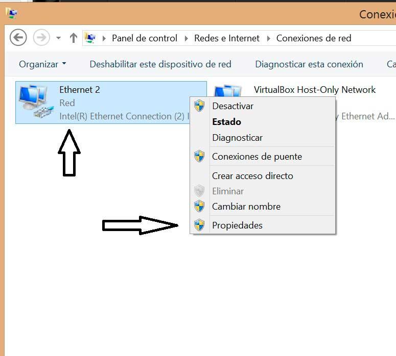 Cambiar DNS en Windows 8 conexiones de red