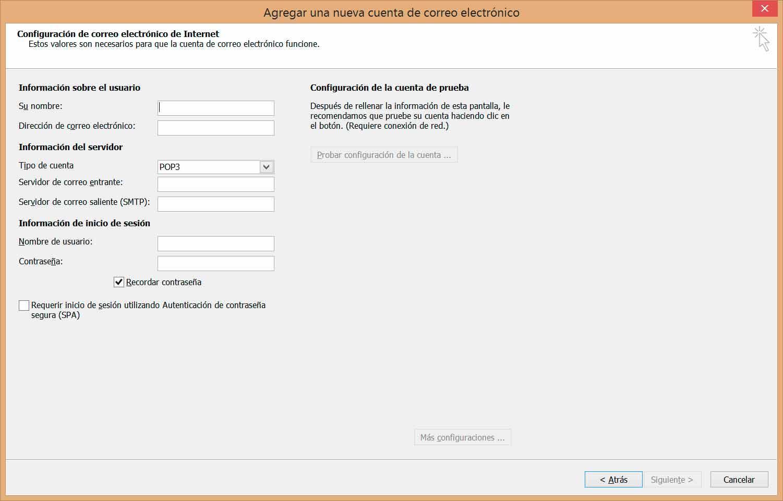 configurar cuentas de correo en outlook 4