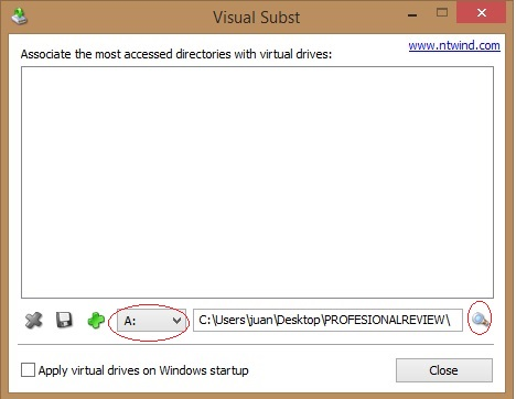 montar carpeta como unidad de windows con Visual subst 2