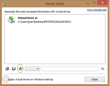 montar carpeta como unidad de windows con Visual subst 3