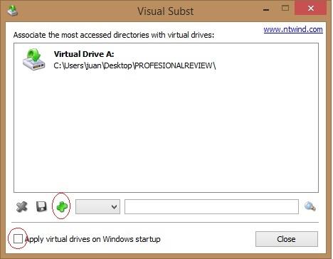 montar carpeta como unidad de windows con Visual subst 3