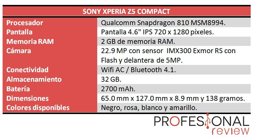 Sony Xperia Z5 Compact caracteristicas