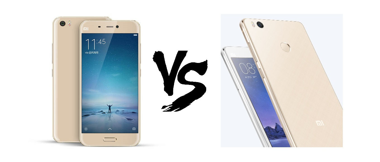 Xiaomi Mi4s vs Xiaomi Mi5