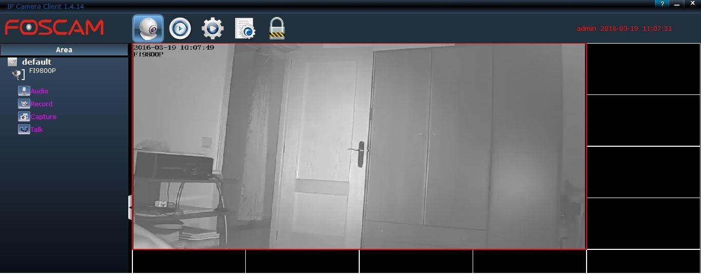 Foscam Fi9800p review software visión nocturna