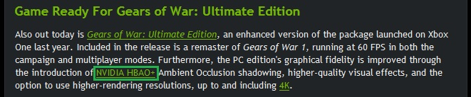 Gears of war: ultimate edition hbao+
