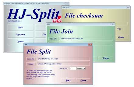 unir archivos divididos con extensión 001 y 002 HJ-Split