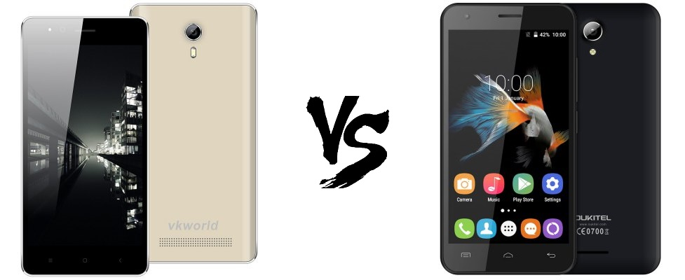VKworld F1 vs Oukitel C2