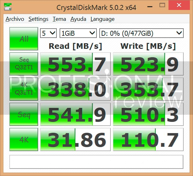 Kingston SSDnow KC400 benchmark