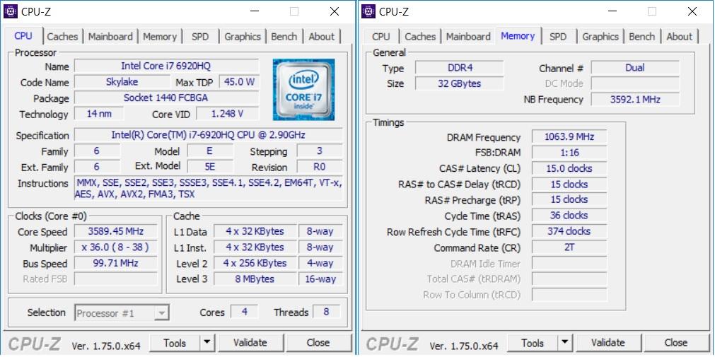 MSI GT80s 6QF Titan SLI CPU