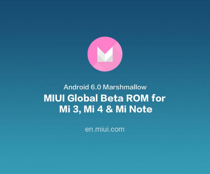 ROM MIUI Marshmallow global