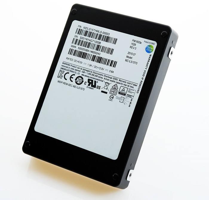 Samsung  PM1633a con capacidad de 15 TB
