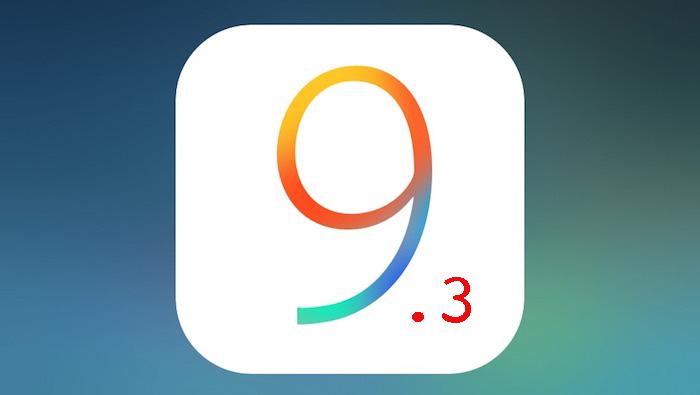Logo de iOS 9.3
