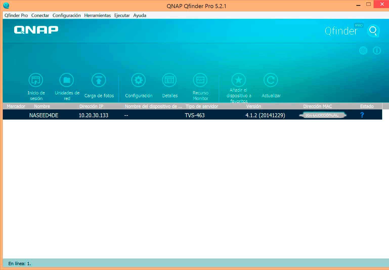 QNAP TVS-463 software