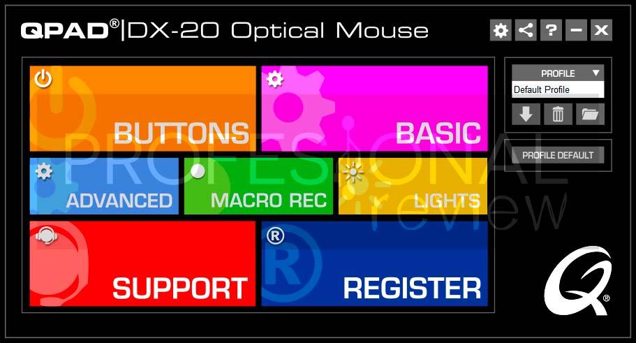QPAD DX-20 Software