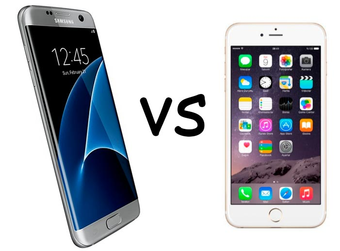 samsung galaxy s7 vs iphone 6s comparativa