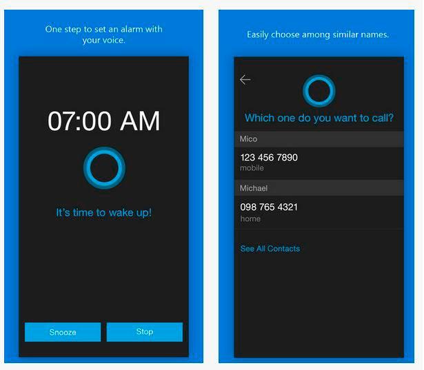 Cortana para iOS