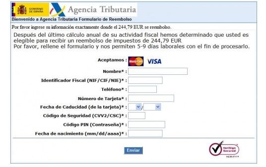 Nuevo phishing de la declaración de la Renta