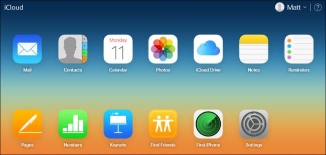 Aplicación Photos en iCloud