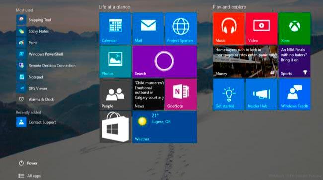 modo tablet de Windows