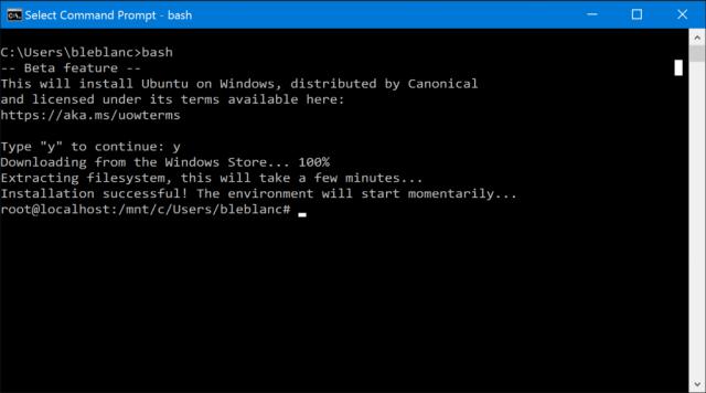 bash windows 10