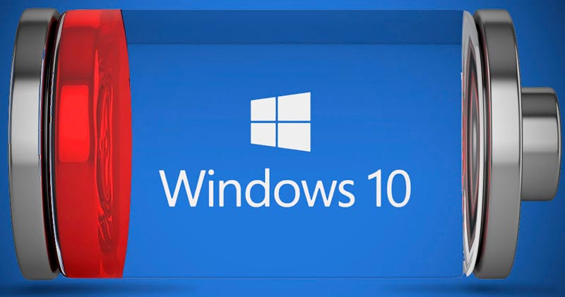 ahorrar bateria en Windows 10
