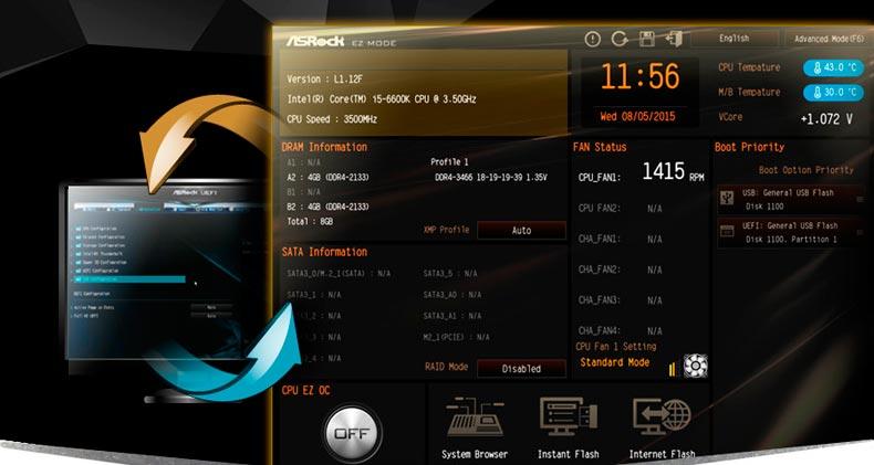 ASRock Z170 Extreme 4 bios