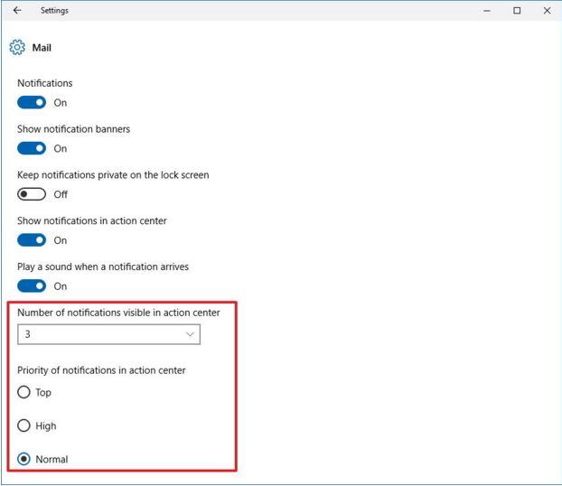 configuracion de notificaciones