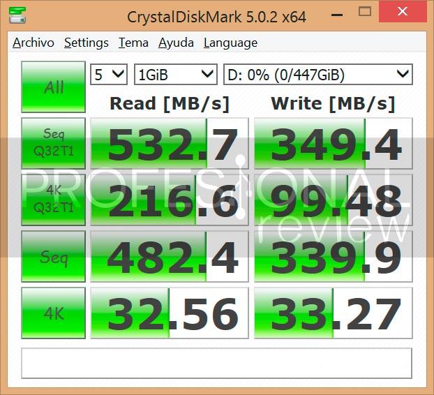 HyperX Fury SSD 480GB crystaldiskmark