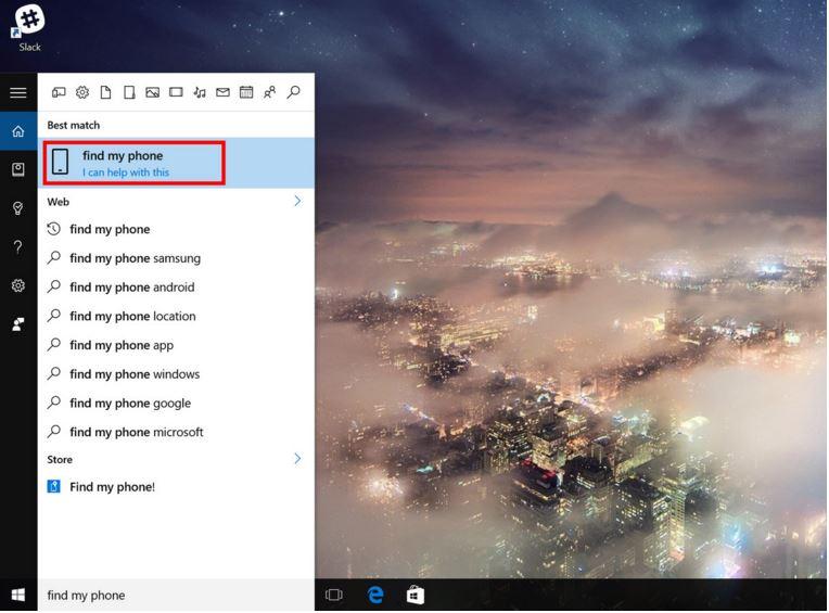 Cómo utilizar Cortana para encontrar tu smartphone