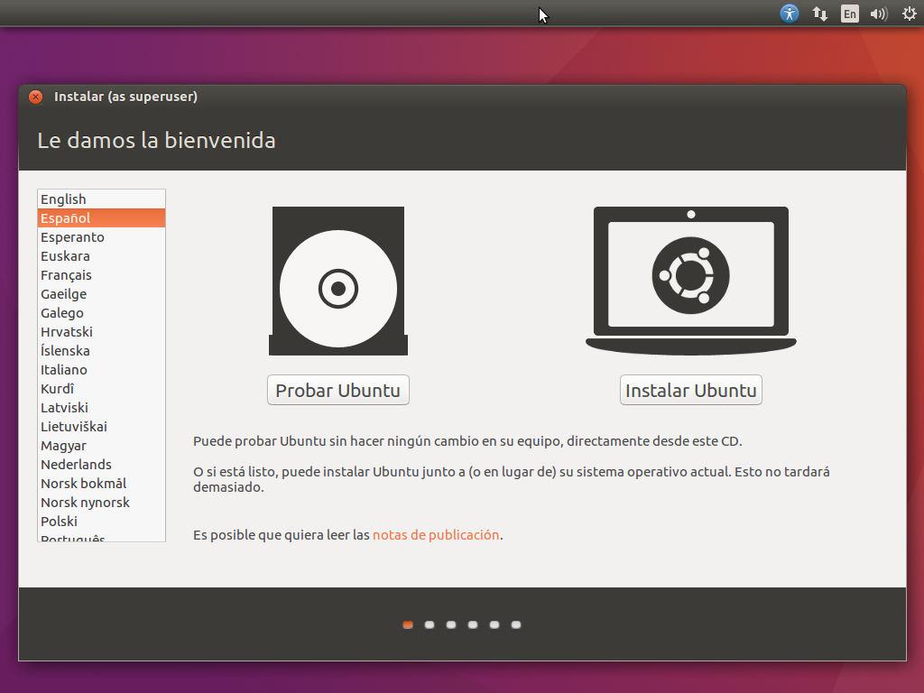 instalar ubuntu 16.04 lts en virtualbox 10