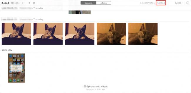Subiendo fotos en iCloud