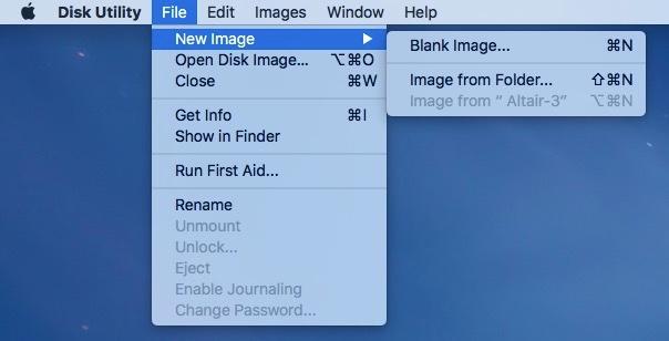 Utilidad de discos en OS X El Capitán
