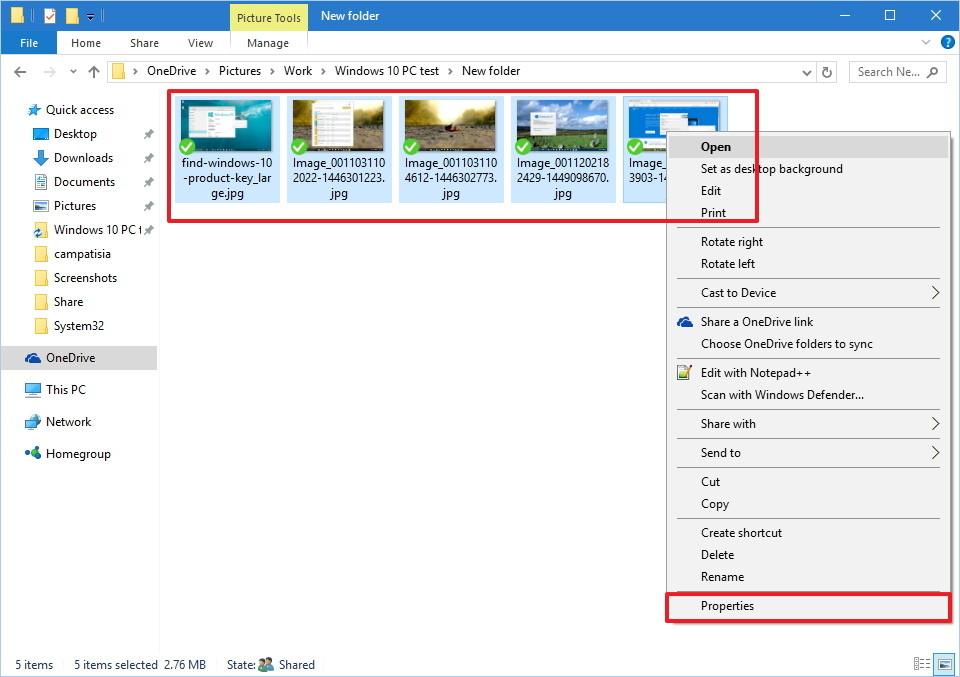 eliminar información en imágenes desde Windows 10