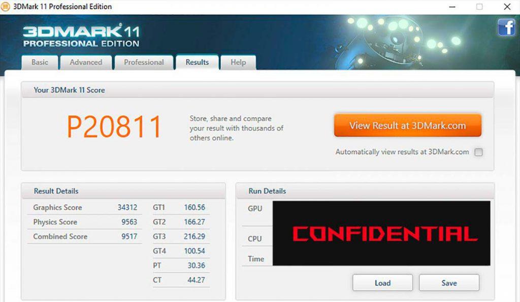 GTX 1080M 3DMARK11