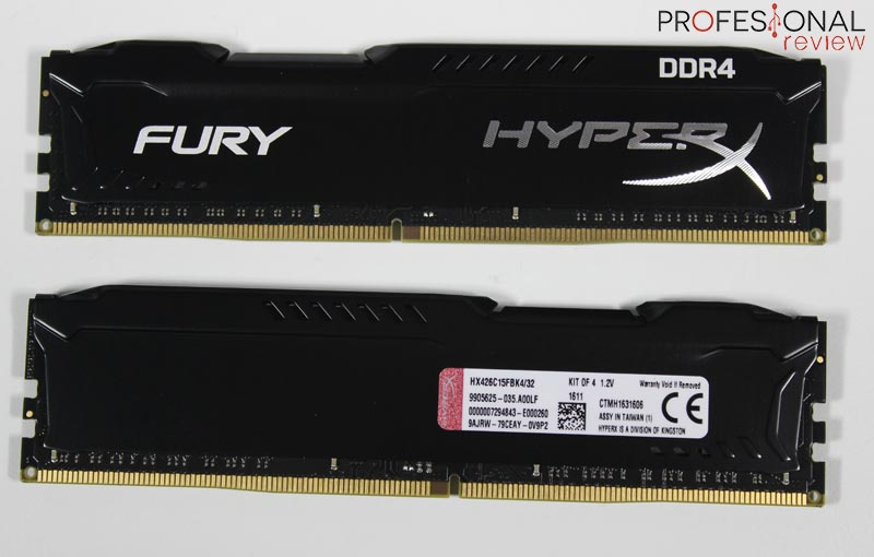 HyperX Fury DDR4 analisis
