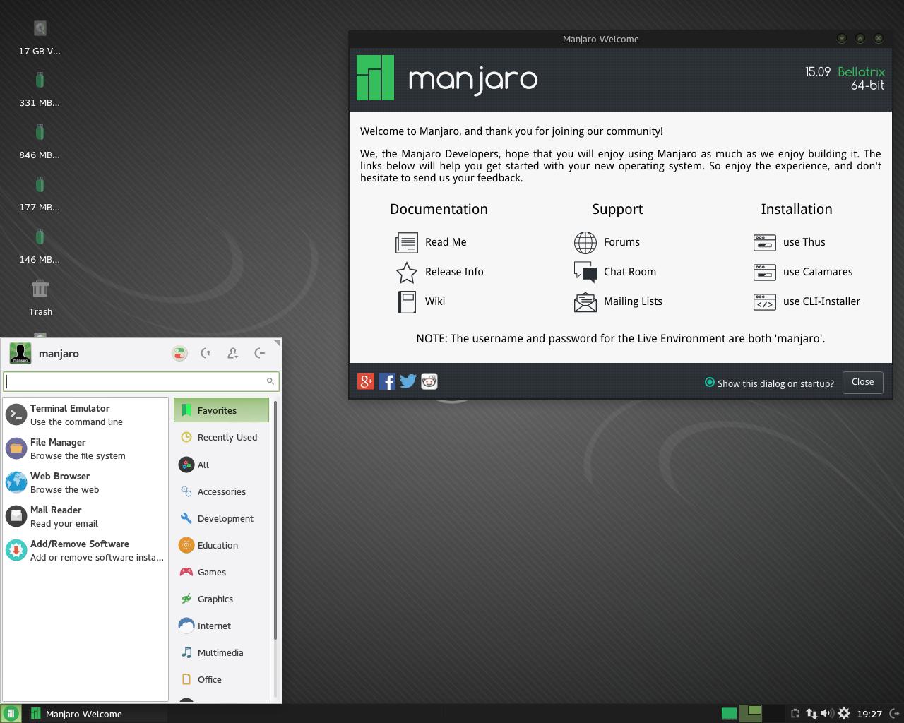 Manjaro Linux Gaming 16.06.1