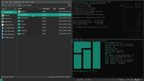 Manjaro Linux Gaming 16.06.2