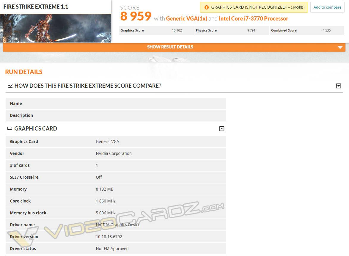 GeForce GTX 1080 primeros benchmarks 3DMark FireStrike Extreme