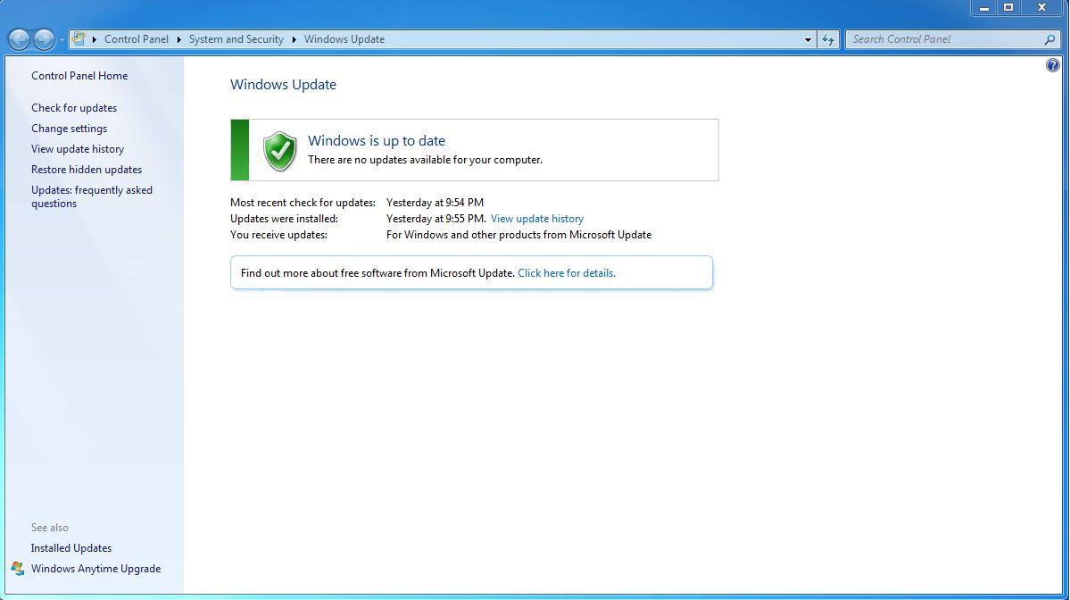 actualizaciones de no seguridad en windows