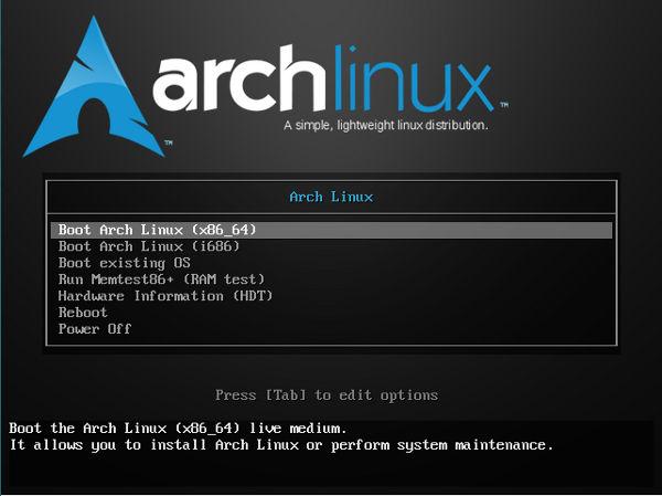 arch linux instalacion