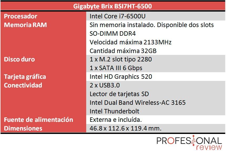Brix BSI7HT-6500 caracteristicas