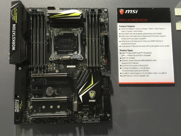 3 MSI X99A Workstation