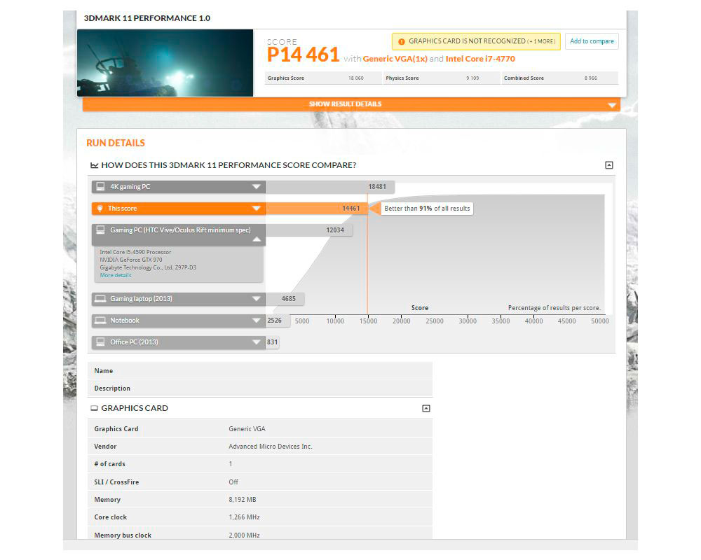 AMD Radeon RX 480 3DMARK11