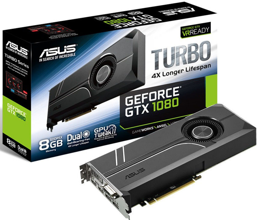 Asus GeForce GTX 1080 Turbo con disipador de turbina