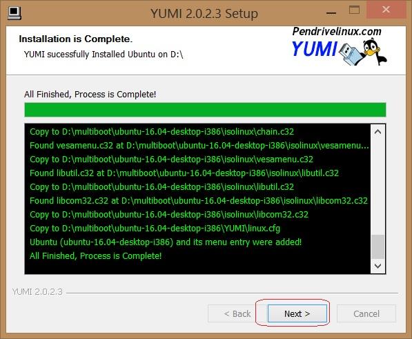 Cómo instalar Ubuntu 16.04 LTS descargar yumi 5